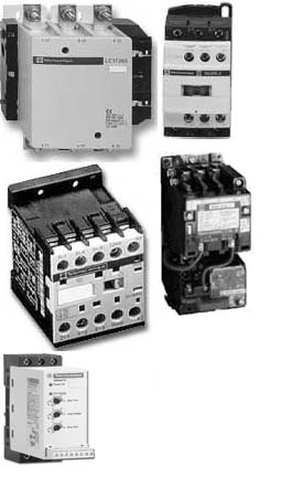 Solid-state motor starters. The lower unit also provides soft-starting functions for motors.