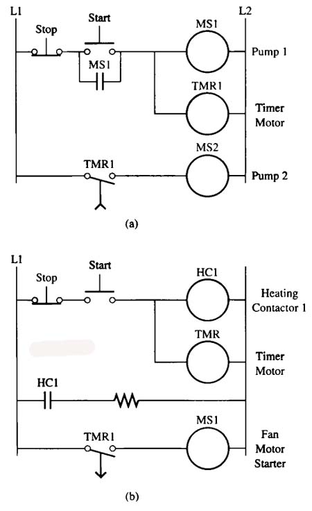 electrical control wiring symbols further time delay relay