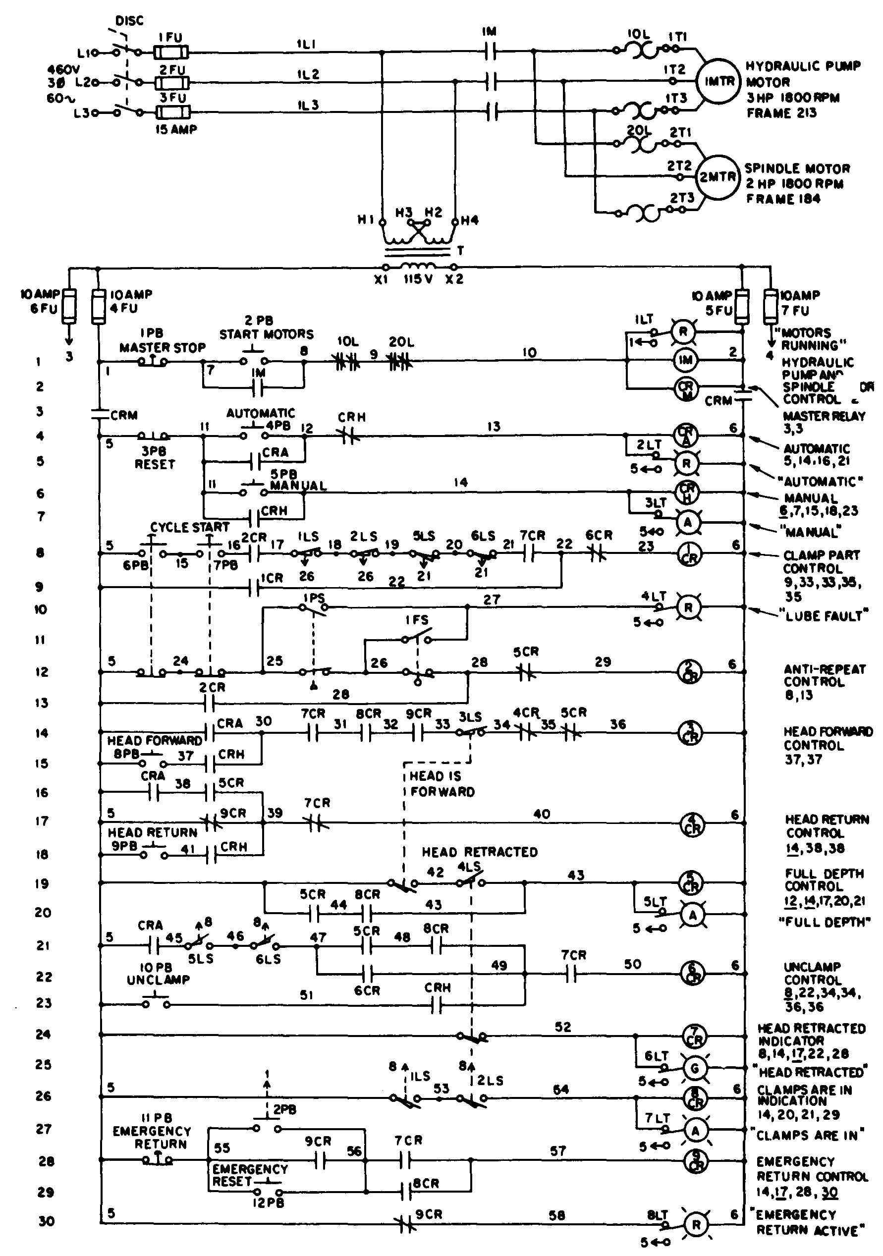 Drafting For Electronics Motors And Control Circuits Part 2 Logic Diagram The Second Rung Of See A Simple Ladder 35 Ungrounded Circuit Joint Industrial Council