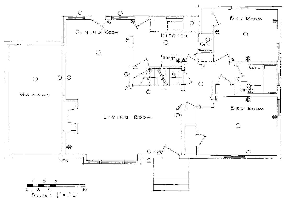 Electrical Drawing For Architectural Plans 4 Way Switch Plan Floor Of First Story Residence