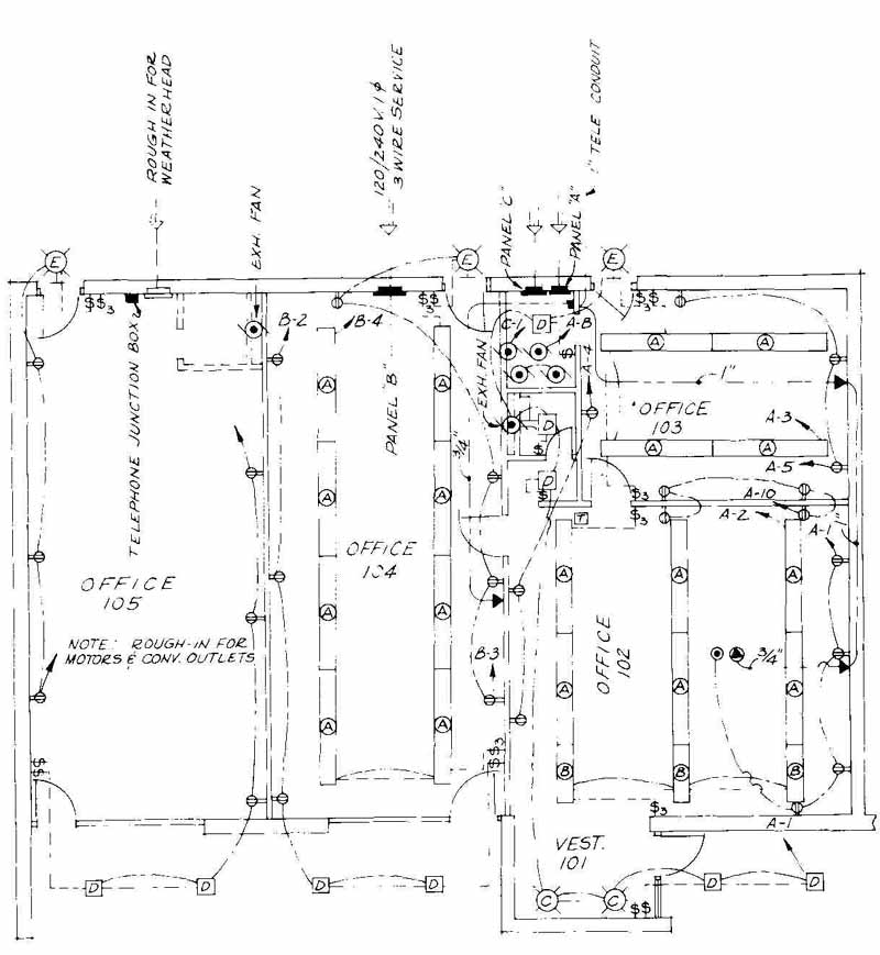 electrical drawing for architectural plans Architectural Floor Plans Electrical Plan Architecture #2