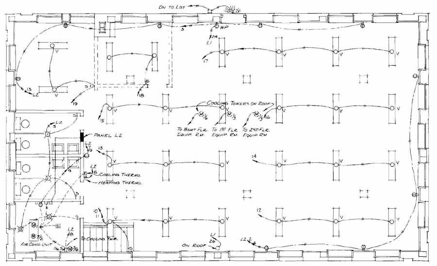 Electrical Drawing for Architectural Plans on