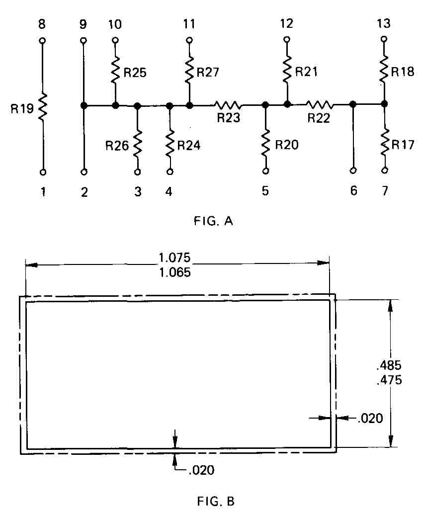 Electrical And Electronic Drawing Microelectronics Part 1 Small Scale Integrated Ssi Circuits 21 A Schematic Diagram Of Circuit That Has Been Produced In Both Thick Thin Film Form B Outline The Substrate