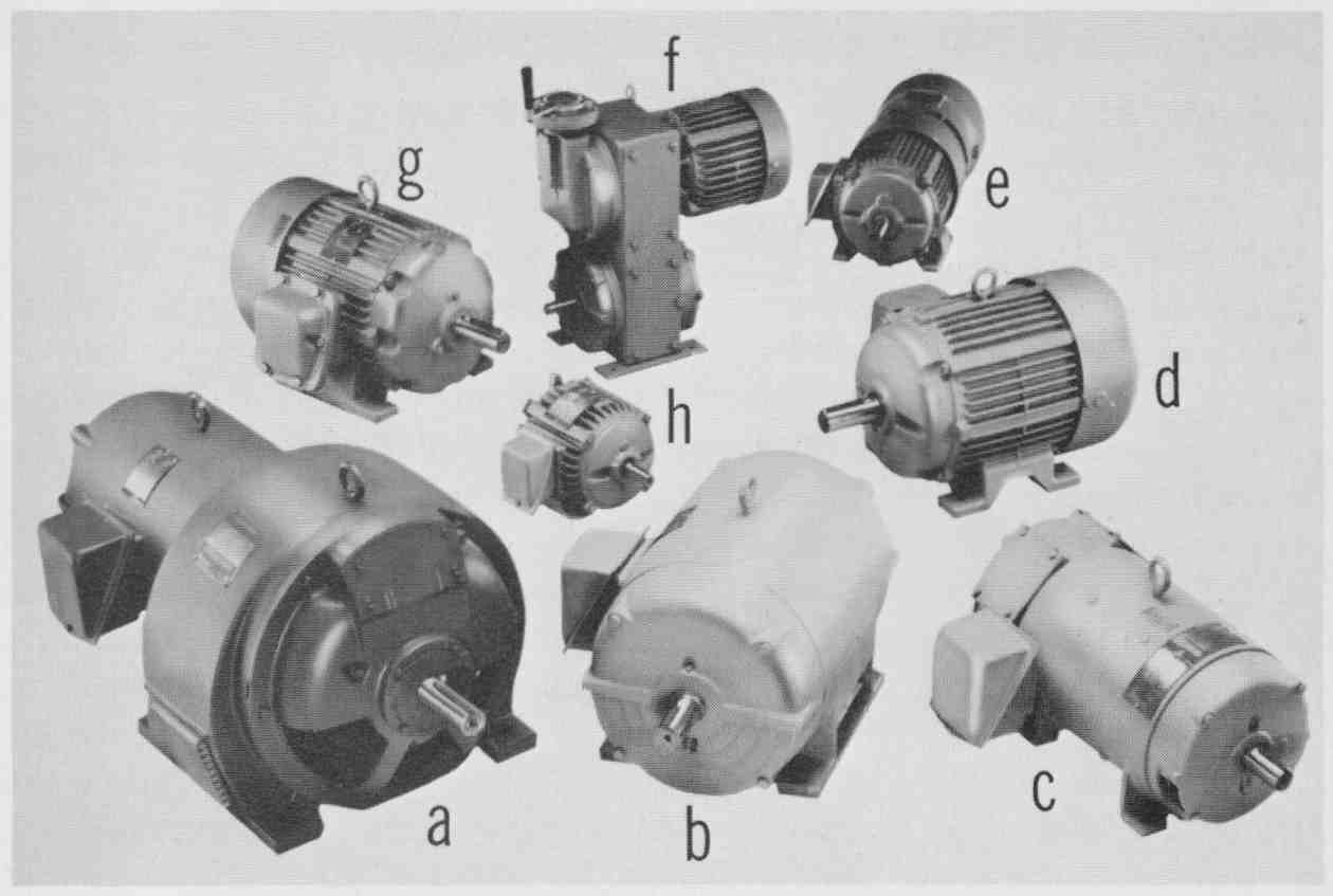 Electrical And Electronic Drawing Industrial Controls D C Elementary Wiring Diagrams 13 Photograph Of Various Types Motors A Eddy Current Clutch Motor B Squirrel Cage Induction Drip Proof Enclosed Dc