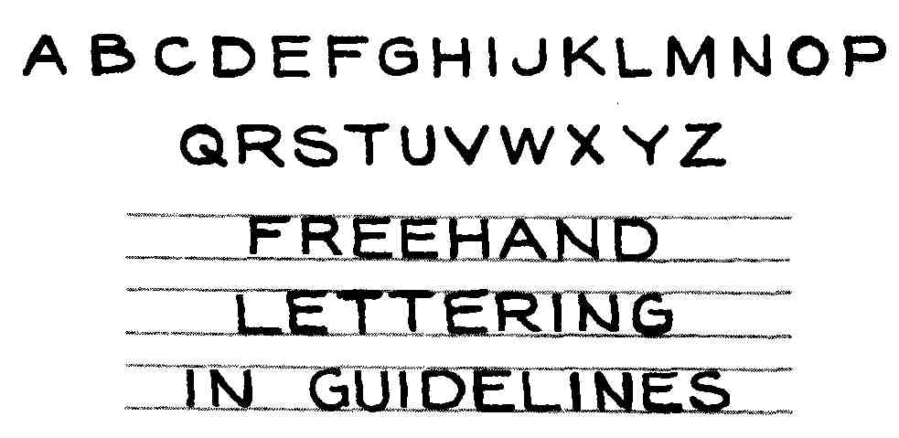 FIG 4 A Good Freehand Printing Showing Style And Composition B Template For Setting Up Lettering Heights