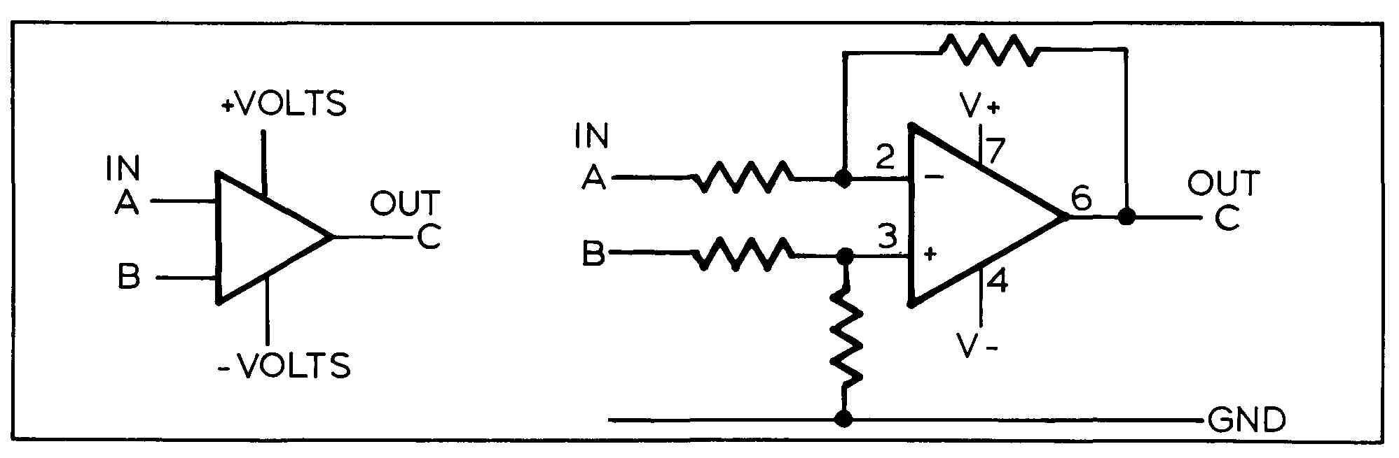 Schematic And Logic Diagrams Rs Flip Flop Using Op Amp A Two Input Operational Amplifier With External Resistors Added To The Symbol