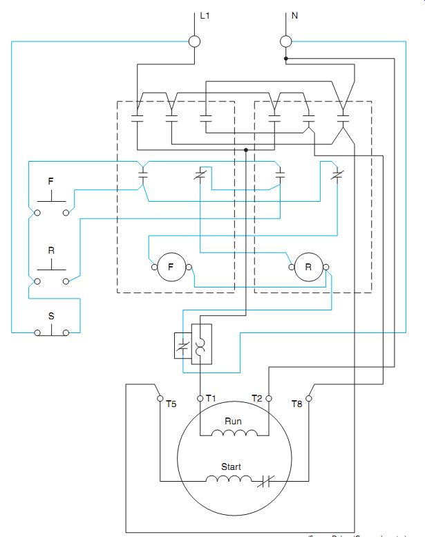 Magnetic Starter Wiring Diagram Single Phase