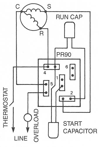10 3 potential relays 10 4 solid state starting relays and devices a c compressor relay wiring diagram 10 19 wiring of universal relay replacing potential relay wiring as a potential relay replaces all potential motor starting relays for compressors rated