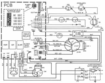HVAC Manuals as well Rheem Fan Motor Wiring Diagram in addition Trane  mercial Wiring Diagrams further Carrier Package Unit Wiring Diagram additionally Heil Gas Furnace Wiring Diagram. on goodman air handler schematics