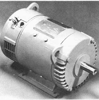 11A Direct current motor, hp to 5-hp; ill. 11B Comparison of D.C. permanent magnet motor and wound field motor.