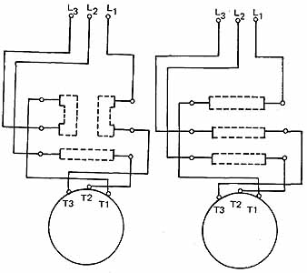 starting three phase squirrel cage induction motors 11 connections for a drum reversing switch left reverse right forward