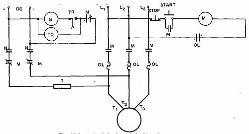 schematic diagram of wye delta motor starter