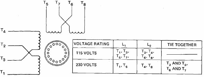 single-phase induction motors, Wiring diagram