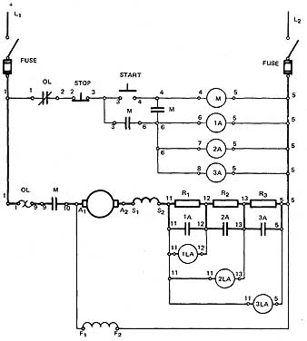 the dc voltage drop acceleration controller auto coil wiring diagram elementary wiring diagram