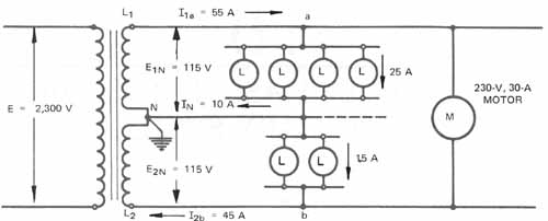 The Single-Phase, Three-Wire Secondary System on power pole transformer diagram, 3 phase transformer formulas, 3 phase wiring schematic, single phase transformer diagram, electrical transformer diagram, 3 phase y diagram, 3 phase angle meter, 3 phase voltage, 3 phase 480v distribution panel, auto transformer diagram, transformer vector group diagram, current transformer diagram, 3 phase phasor diagram, 3 phase power metering 2 transformer, ct transformer connection diagram, 3 phase power diagram, 3 phase wye wiring, 3 phase step down transformer, 3 phase pad-mounted transformer, step up transformer diagram,