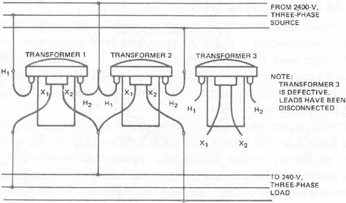 transformer banking diagrams single-phase transformers connected in delta