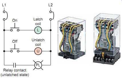 [FPWZ_2684]  Motor-Control Systems: Relays (part d) | Industrial Latching Relay Wiring Diagram |  | Industrial Electronics