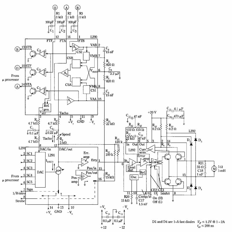 Dc motor speedposition control system 28 schematic diagram of the dc motor speedposition control system the functional components of the three building block ics are shown to facilitate swarovskicordoba Choice Image