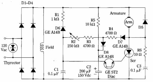 thyristor ac motor control circuit choice image diagram