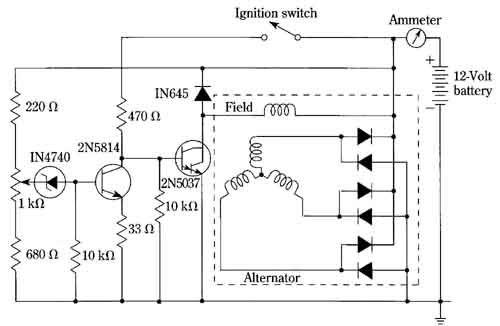 Wiring diagram for the vr voltage regulator
