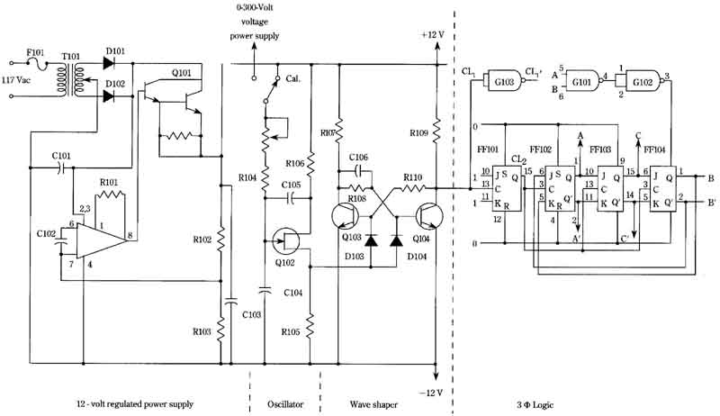 3 Phase Induction Motor Speed Control Circuit Diagram