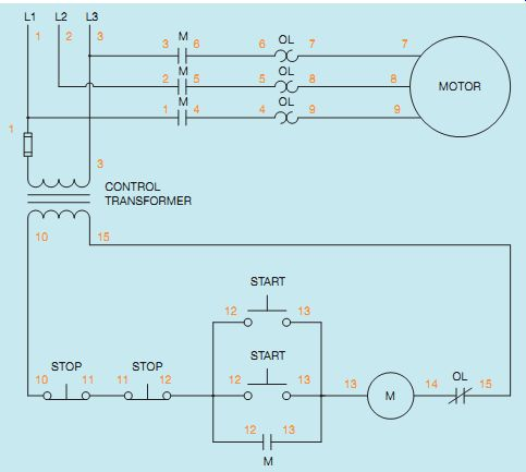 Multiple Push-Button Stations | With Start Stop Switch Wiring Diagram Aux Contacts |  | Industrial Electronics