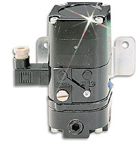 Fig. 1: Current-to-pressure (I/P) converter. This device has an air pressure gauge to indicate the supply air, & another gauge to indicate the regulated pressure.