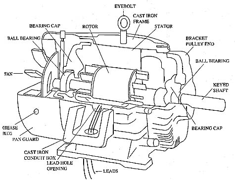 Three Phase Motor Components
