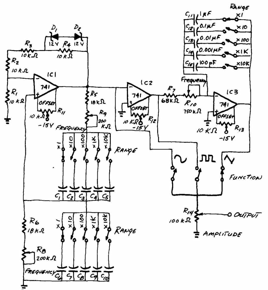 Drafting For Electronics Schematic Diagrams Diagram To Draw And Wiring Common Circuit Symbols On Problem 20 A Function Generator