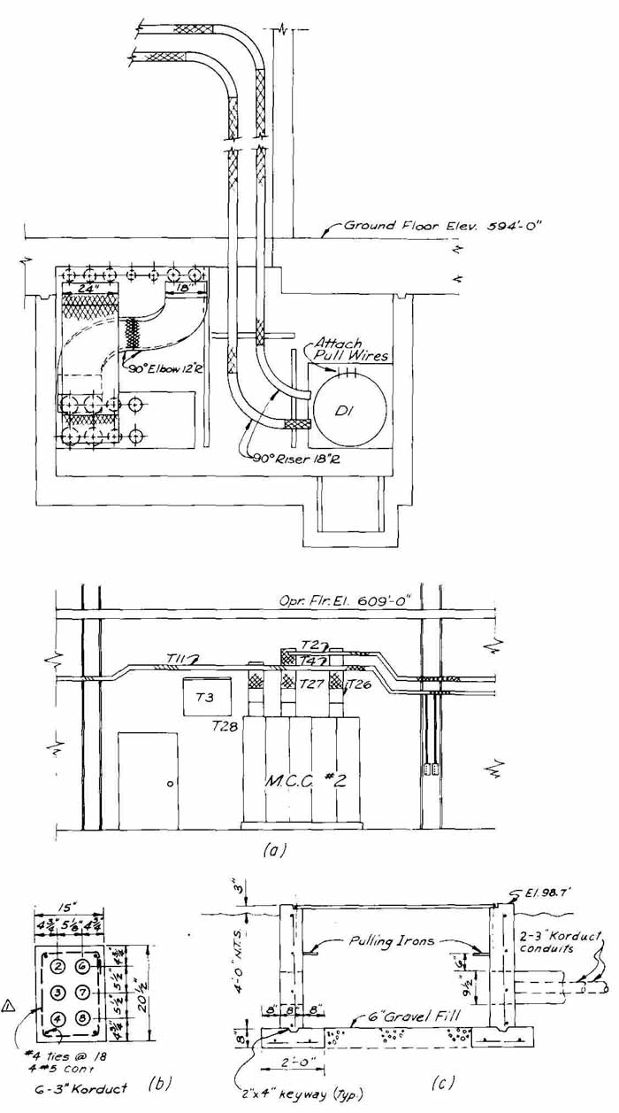 Drawings For The Electric Power Field Draw A Schematic Diagram Fig 20 Special Details That Are Part Of Set Generating Station Tray B Duct Bank C Pull Box