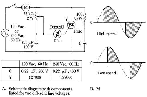 Triac speed control circuit for induction motors for Speed control of induction motor