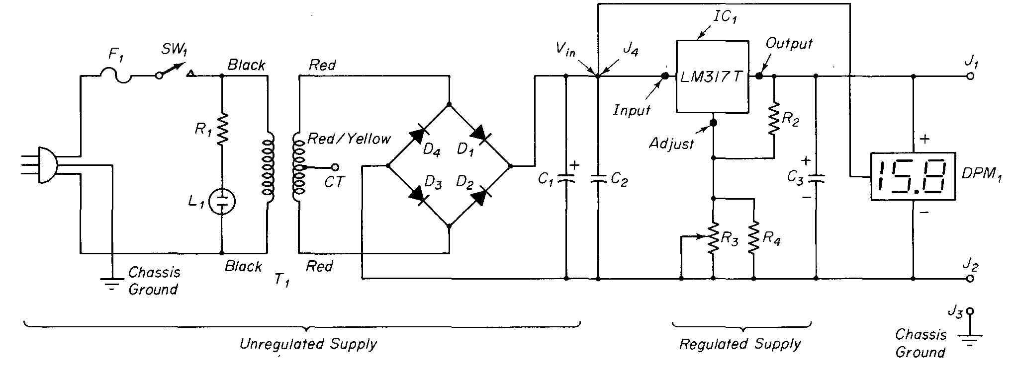 Electronic Techniques Projects Diagram Come From Circuit Symmetrical Regulated Power Supply 6 Schematic Of Variable Voltage Operation