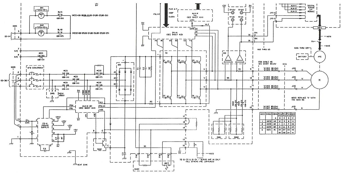 Servo Drive Motor Wiring Diagram Library Above Electronic Schematic Of An Ac Amplifier For Three Phase